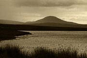 Peat Lake Posters - Sepia Loch View the Highlands of Scotland Poster by Sally Ross