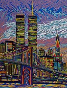 Cities Pastels - September 10th  by Robert  SORENSEN