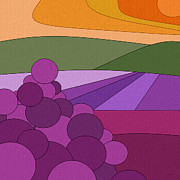 Grape Digital Art - September Harvest by Val Arie
