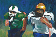 Football Pastels - September Spirit by Mary C Haneline