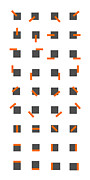 Digital Art Toronto Prints - Sequential Composition With 72 Objects Print by Evan Steenson