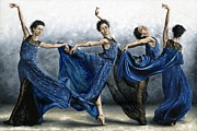 Long Hair Paintings - Sequential Dancer by Richard Young