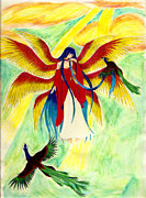 Seraphim Angel Drawings Prints - Seraphim Print by Kaleigh Civis