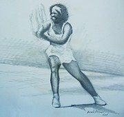 Serena Williams Posters - Serena Williams Poster by Howard Stroman