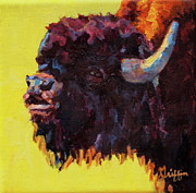 Buffalo Paintings - Serenade by Patricia A Griffin