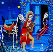 Mexican Horse Paintings - Serenata by Evangelina Portillo
