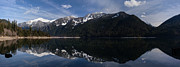 Alpine Lake Framed Prints - Serene Alpine Lake Framed Print by Mike Reid