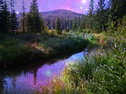 Shirley Sirois    Prints - Serene Mountain Moment Print by Shirley Sirois