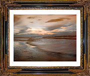 Subdued Prints - Serene Sunrise Print by East Coast Barrier Islands Betsy A Cutler