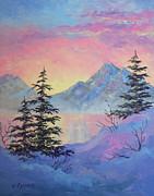 Serene Sunset Print by Teresa Ascone