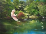 Waterscape Painting Posters - Serenity Poster by Carol Sweetwood