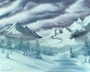 Snow Scene Mixed Media Originals - Serenity by Dave Carr