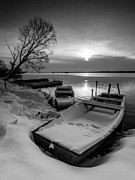 White And Black Landscapes Posters - Serenity Poster by Davorin Mance