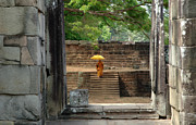 Buddhist Monk Photos - Serenity In Cambodia by Bob Christopher
