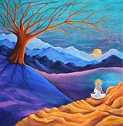 Warm Colors Paintings - Serenity in Pratyahara by Marilen Morales