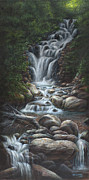 Mountain Stream Paintings - Serenity by Kim Lockman