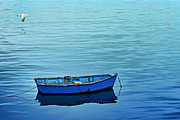 Boat Minimalism Digital Art - Serenity by Nikolyn McDonald