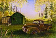 Rat Rod Painting Posters - Serenity One O One Poster by Whitey Thompson