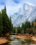 Half Dome Painting Prints - Serenity Print by Oscar Franco