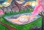Son Pastels - Serenity Pond by Lewanda Laboy