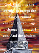 Born Again Digital Art Framed Prints - Serenity Prayer 1 Framed Print by Mark Moore