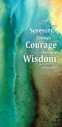 Wisdom Posters - Serenity Prayer 2 - By Sharon Cummings Poster by Sharon Cummings