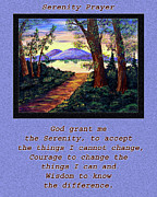 Serenity Prayer Mixed Media Prints - Serenity Prayer and Favorite Fishing Spot Print by Barbara Griffin