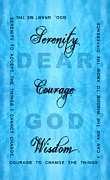 Serenity Prayer Print. Framed Prints - Serenity Prayer Dear God Framed Print by Margaret Newcomb