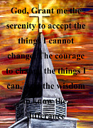 Born Again Digital Art Framed Prints - Serenity Prayer Framed Print by Mark Moore