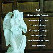 Aa Posters - Serenity Prayer Poster by Philip Ralley