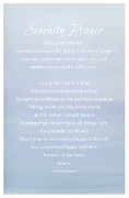 Niebuhr Prints - Serenity Prayer Print -- Blue Sky Watercolor Print by Spirit Greetings