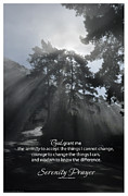 Niebuhr Prints - Serenity Prayer Print -- Morning Fog at Esalen Print by Spirit Greetings