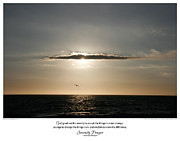 Santa Monica Digital Art Metal Prints - Serenity Prayer Print -- Sunset at Santa Monica State Beach Metal Print by Spirit Greetings