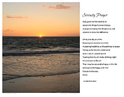 Prayer Digital Art Posters - Serenity Prayer Print -- Sunset from Santa Monica Pier Poster by Spirit Greetings