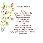 Serenity Prayer Paintings - Serenity Prayer by Shirley Fisher