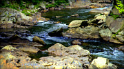 Water Flowing Prints - Serenity Stream Print by Karen Wiles