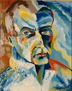 Black Light Art Painting Originals - SERGEY RACHMANINOV portrait by Preciada Azancot