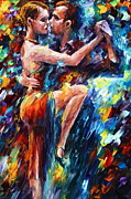 Dancer Paintings - Serious Tango by Leonid Afremov