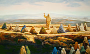 Sermon Painting Prints - Sermon On The Mount Print by Bryan Ahn
