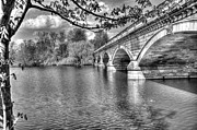 Pond Photos - Serpentine Bridge Hyde Park London Black and White by A Souppes
