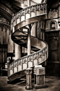 Spiral Staircase Photos - Serpentine by Wenata Babkowski