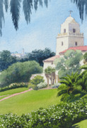 University Of Illinois Paintings - Serra Museum and USD by Mary Helmreich