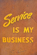 Shell Sign Art - Service is My Business by Michelle Calkins