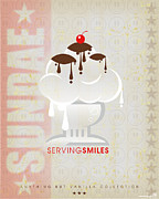 Ice Cream Art - Serving smiles by Chip David