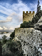 Battlement Posters - Sesimbra Castle Poster by Lusoimages