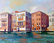 Italian Landscapes Paintings - Sestiere San Marco by Filip Mihail