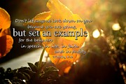 Scripture Art Prints Prints - Set an Example Print by Linda Fowler