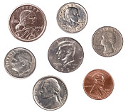 Coins Posters - Set of U.S. Coins Poster by Joe Belanger