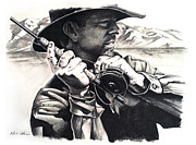 Fly Fishing Drawings Originals - Set Time by Mike Worthen