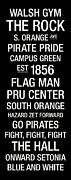 Pirates Photos - Seton Hall College Town Wall Art by Replay Photos